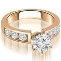 2.75 cttw. 14K Rose Gold Classic Channel Set Round Cut Diamond Bridal Set - Thumbnail 1