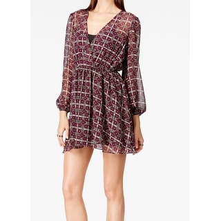 BCBG Generation NEW Purple Women's Size XL Peasant Blouson Dress
