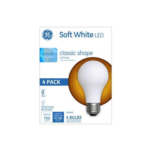 Luxury GE LED A19 Classic Shape Light Bulb 8 Watts 760 Lumens Pack Photos - Beautiful ge led light bulbs Simple Elegant