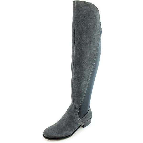 Corso Como Stonybrook Women Round Toe Suede Gray Over the Knee Boot