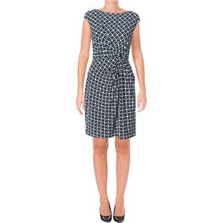 Lauren Ralph Lauren Womens Petites Casual Dress Matte Jersey Printed