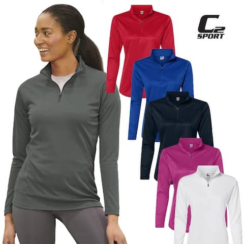 C2 Sport Women's Athletic Quarter Zip Pullover