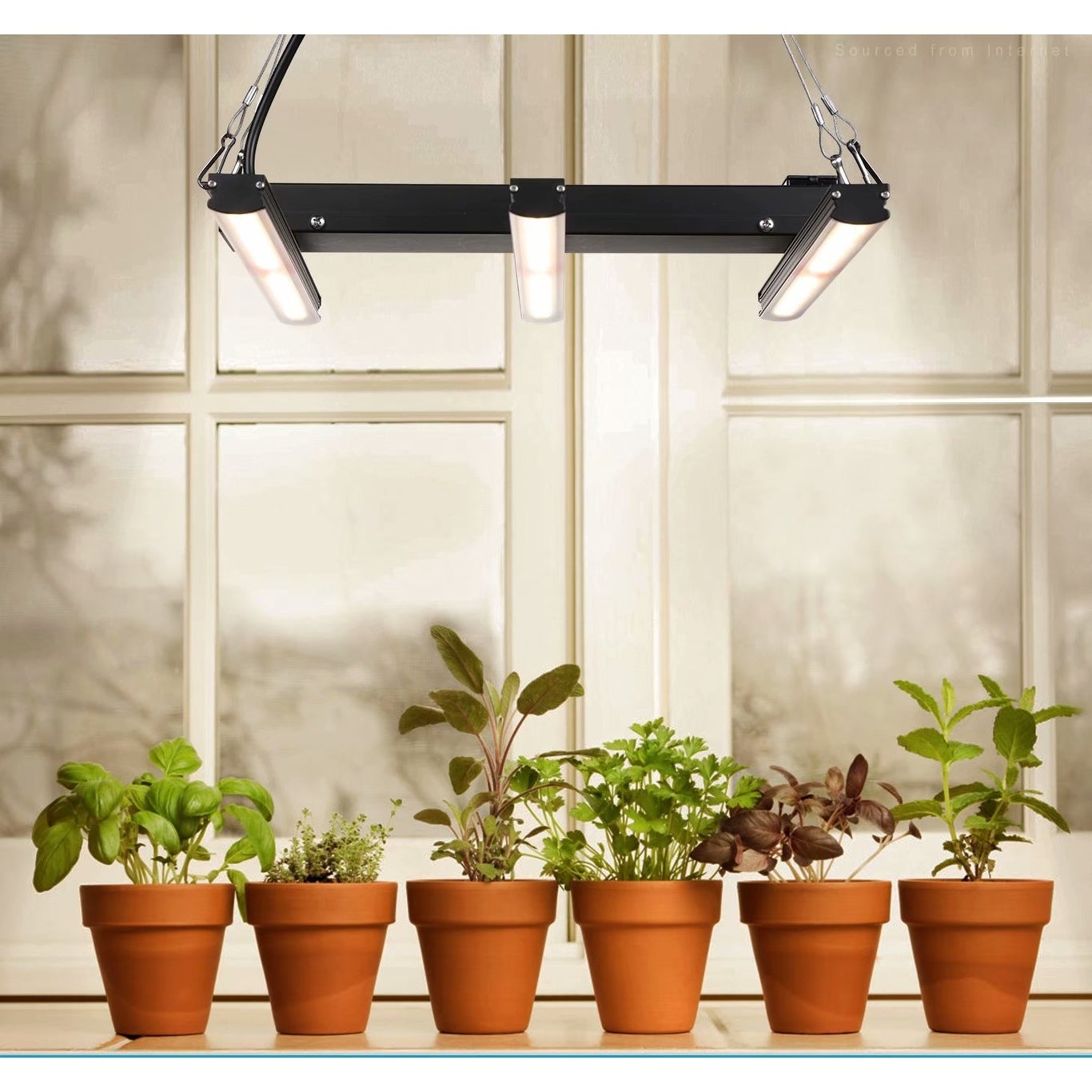 Shop Black Friday Deals On Plug In Linkable Led Indoor Plant Grow Light Full Spectrum Hanging Mount Fixture 1pack Overstock 30892489