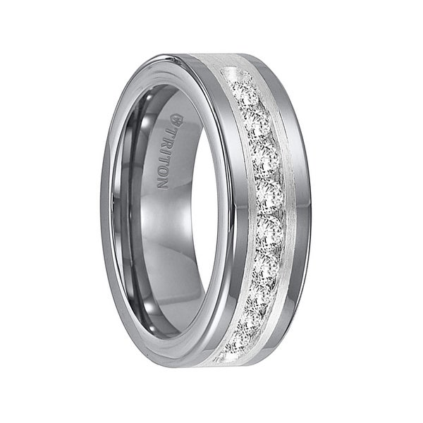 wedding ring tungsten carbide diamond band