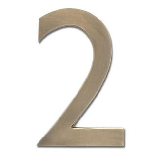 Architectural Mailboxes 3585-2 5 Inch Solid Cast Hand Finished Brass House Numbers
