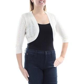 Womens Ivory Casual Bolero Jacket Size L