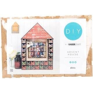 "Beyond The Page MDF House Shadow Box Advent Calendar-19.25""X - 19.25""x13""x2"""