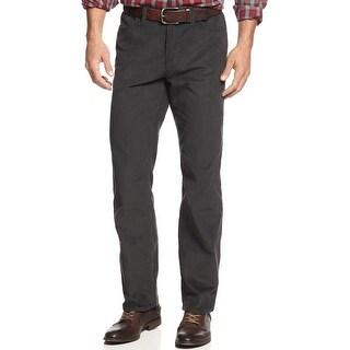 Alfani Red Label Slim Fit Flat Front Corduroy Pants Kettle Grey 36 x 32