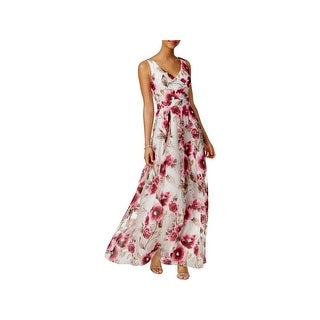 Betsy & Adam Womens Petites Evening Dress Floral Special Occasion