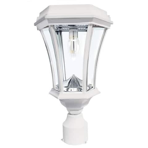 "Gama Sonic 94B233 Victorian 15"" Tall 2700K LED Solar Powered Single - White"