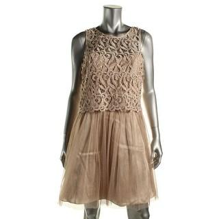 Morgan & Co. Womens Juniors Mesh Glitter Party Dress - 11/12