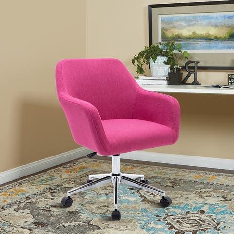 Linen Upholstered Swivel Adjustable Height Home Office Task Chair