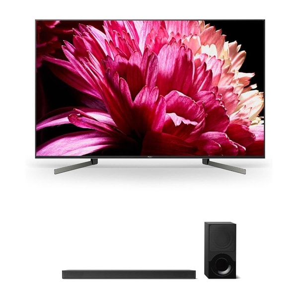 """Sony XBR65X950G 65"""" BRAVIA 4K Ultra HD HDR Smart TV and HT-X9000F 2.1-Channel Dolby Atmos Sound Bar with Subwoofer - Black"""