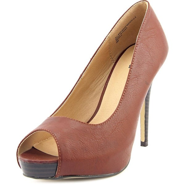 Diba Tenith Platform Women Open Toe Synthetic Brown Platform Heel