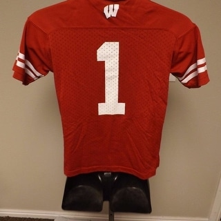 Wisconsin Badgers 1 Youth Or Kids S L XL 4 8 14 16 18 20 Adidas Jersey