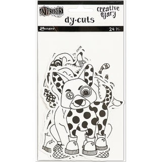 Dyan Reaveley's Dylusions Creative Dyary Die Cuts-Black & White Animals