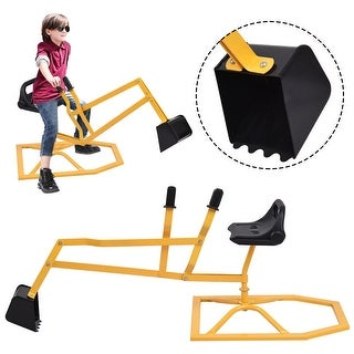 Gymax Heavy Duty Kid Ride-on Sand Digger Digging Scooper Excavator for Sand Toy