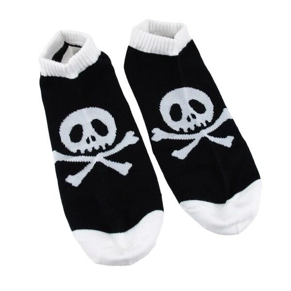 Men`s Black and White Skull and Crossbones Ankle Socks