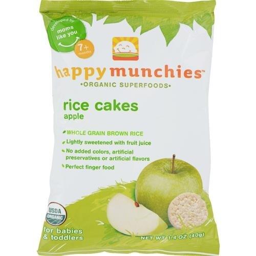 Happy Family - Happy Munchies Rice Cakes - Apple ( 10 - 1.4 OZ)