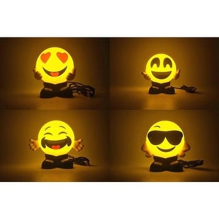 KANSTAR Emoji USB Charging Night Lights, 4-Pack