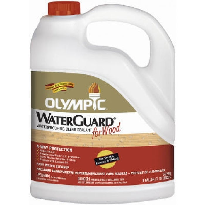 Olympic Waterguard Wood Waterproofing Clear Sealant, 1-gallon -  Overstock