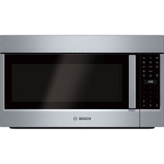 Bosch HMV803U 800 Series 30 Inch Wide 1.8 Cu. Ft. Over-the-Range Microwave with 385 CFM Blower and Weight Controlled Sensor