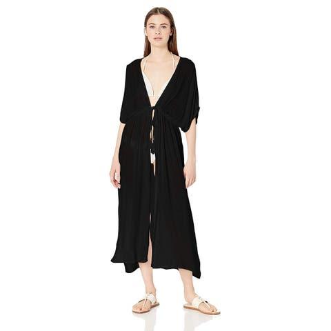 Billabong Women's Shape Shift Cover Up Black, Black Pebble, Size Small/Medium