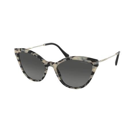 Miu Miu MU 03US KAD3M1 55 Sand Havana Moro Woman Cat Eye Sunglasses