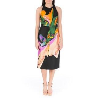 Josh Goot Womens Silk Printed Wear to Work Dress