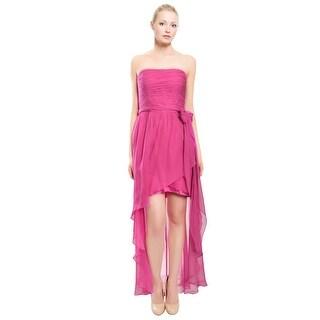 Kurt Thomas Ruched Silk Chiffon Asymmetric Tiered Eve Gown Dress - 4