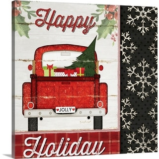 """Happy Holiday"" Canvas Wall Art"