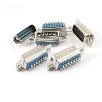 Unique Bargains 6 x DB15 DB-15 15 Pins 2 Row D-sub Solder Male Wire Connector Adapter Interface