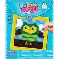 """6""""X6"""" Stitched In Yarn - Owl Learn To Sew Needlepoint Kit"""