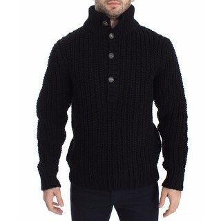 Dolce & Gabbana Dolce & Gabbana Black Knitted Wool Sweater Pullover Top