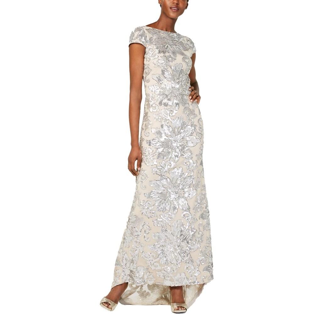 Calvin Klein Womens Evening Dress Sequined Hi-Low
