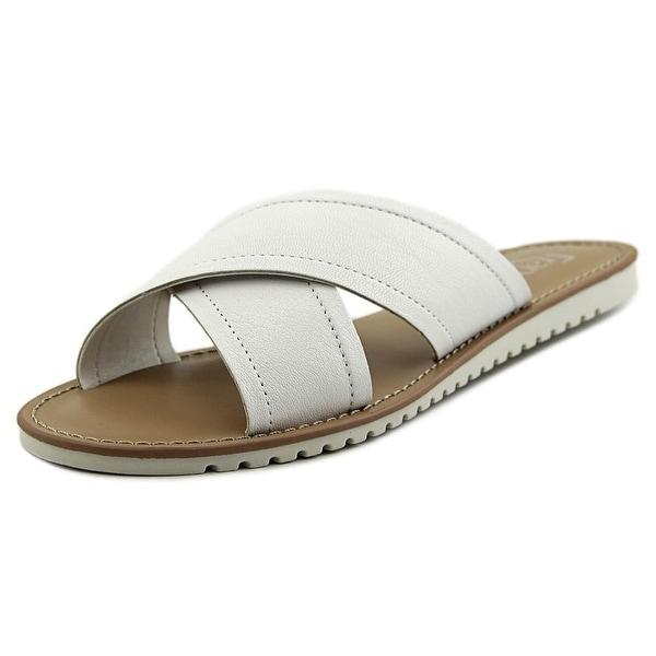 Franco Sarto Quentin Women Open Toe Synthetic White Slides Sandal