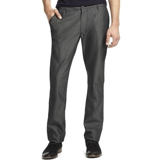 Kenneth Cole Reaction Flat Front Chinos Pants Dim Grey Combo