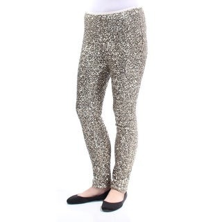 RALPH LAUREN $398 Womens New 1386 Gold Sequined Party Pants 8 B+B
