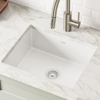 KRAUS Pintura Porcelain Enameled Steel 21 inch Undermount Kitchen Sink