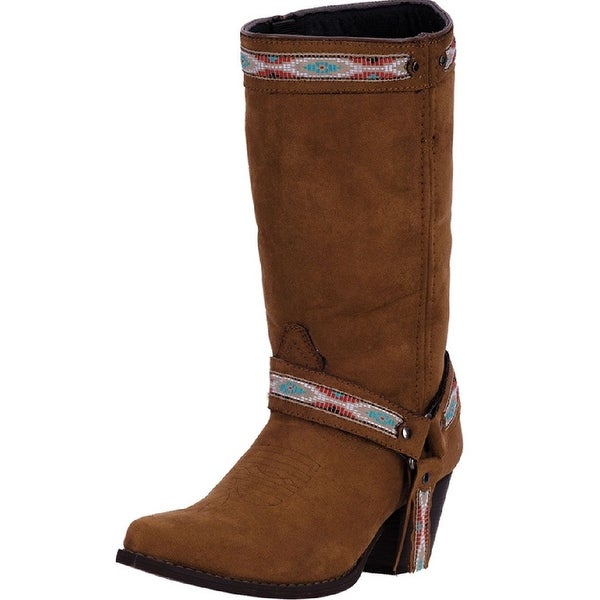 "Dingo Western Boots Womens 10"" Shaft Stovepipe Micro Rust DI 745"