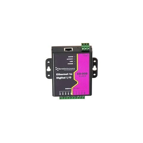 Brainboxes ED-008 Brainboxes Ethernet to 8 Digital IO Lines - ED-008 - 1 x Network (RJ-45) - Fast Ethernet - Rail-mountable