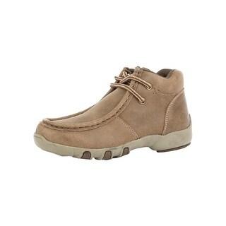Roper Western Shoes Boys Bode Leather Chukka Tan 09-018-1780-2010 TA