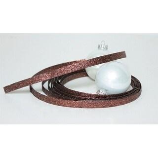 "Pack of 12 Seasons of Elegance Bronze Glittered Holiday Ribbon 1"" x 60 Yards"