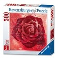 Ravensburger Red Rose 500 Piece Square Puzzle - 20.0 in. x 20.0 in. - Thumbnail 0