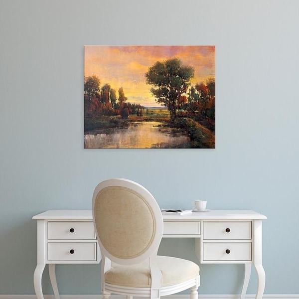 Easy Art Prints Tim OToole's 'Riverside Light III' Premium Canvas Art