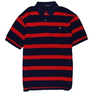 Polo Ralph Lauren Mens Big & Tall Striped Cotton Polo - 4xb