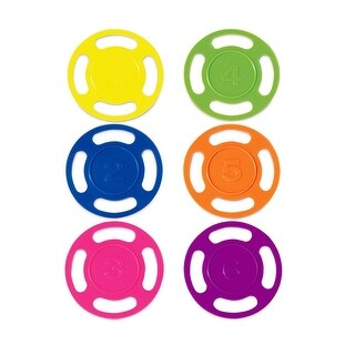 Set of 6 Colorful Dive Disks 4""