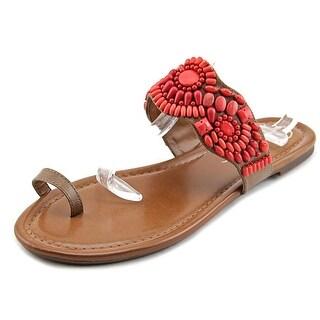 Jessica Simpson Razzel Women Open Toe Synthetic Red Flip Flop Sandal