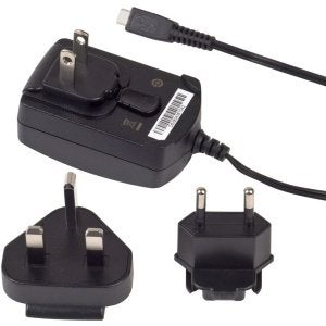 OEM Verizon Blackberry Micro USB Travel Charger with International Adapters - Wo