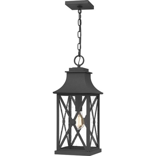 Ellerbee Outdoor Hanging Lantern - Mottled Black. Opens flyout.